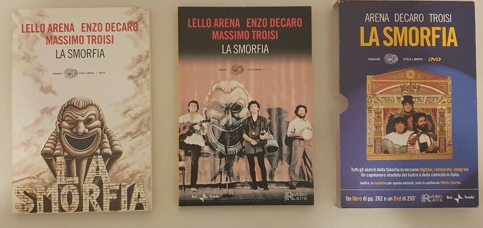 La smorfia teatro Libro + DVD Commedia napoli RAI Einaudi Arena Decaro Troisi