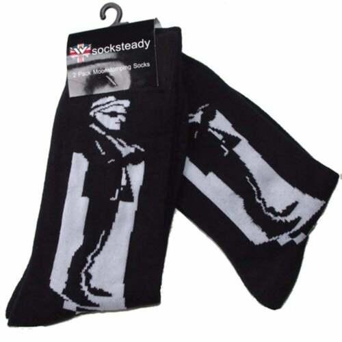 Warrior Mod Man Ska Socksteady Vintage Socks pack 2 pairs Scooter Skinhead