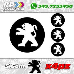 KIT-4-ADESIVI-PEUGEOT-COPRI-MOZZO-sticker-3008-308-208-207-206-black-amp-white