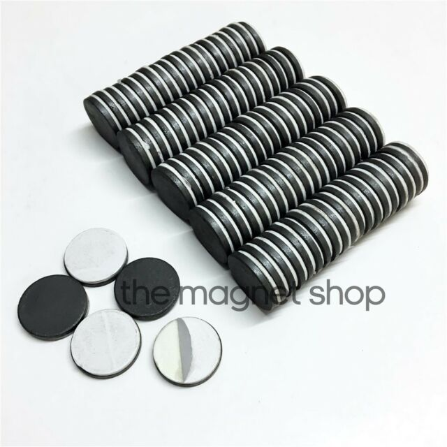 Self Adhesive Magnets 100pcs Strong Fridge Ceramic Ferrite 25mm