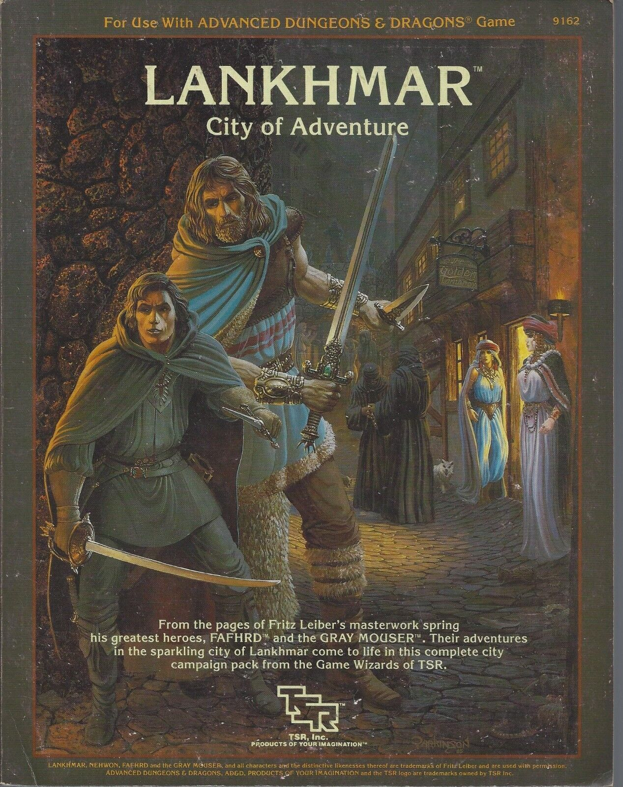 Advanced Dungeons & Dragons Lankhmar City of Adventure SC OOP 9162 + 2 x MAPS