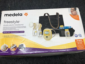 New Medela 67060 Freestyle Double Electric Rechargeable Breastpump Deluxe Set Ebay