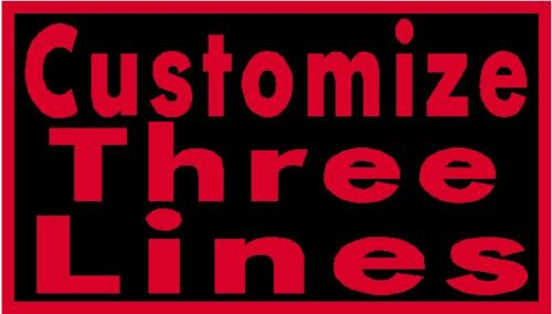 """Custom Embroidery 10/"""" x 4/"""" Name Tag 3 LINES Patch With VELCRO® Brand Fastener"""