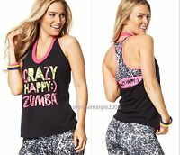 Zumba Crazy Happy Halter Top Tee Shirt Tank Edgy Hot&rare-fr.convention-s,m,l,xl
