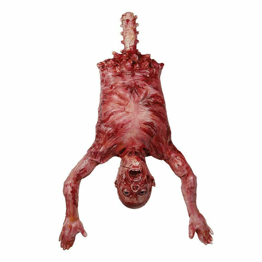 Halloween Party Props Latex Hanging Torso Severot Skinned, Rubber Limbless Hangi