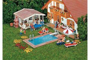 faller 180542 ho 1 87 piscine et abri de jardin swimming pool ebay. Black Bedroom Furniture Sets. Home Design Ideas