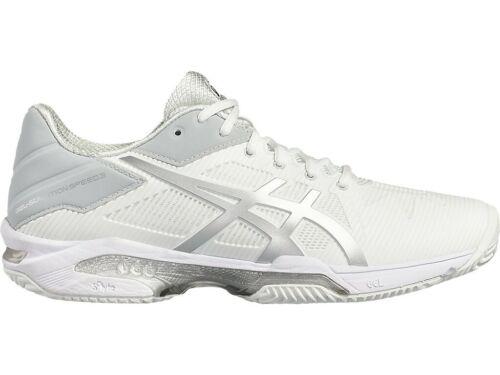 0193: WHITE // SILVER TENNIS SHOES E600N NEW MEN/'S ASICS SOLUTION SPEED 3