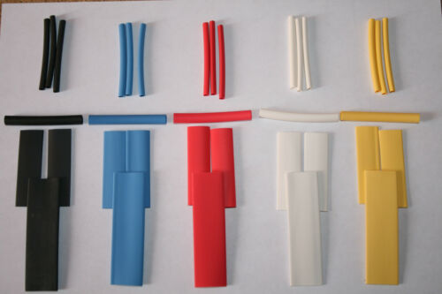 35 Piece Assorted Sizes /& Colours Mixed Heat Shrink Kit 3:1 Shrink Ratio