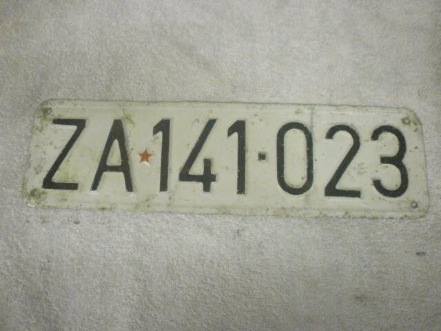 SERBIA (EX YUGOSLAVIA) ZAJECAR GRAPHIC COMMUNIST STAR #ZA 141 023 LICENSE PLATES