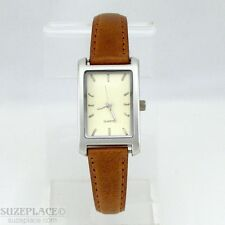 SPARK SEDUCTION by LIZ CLAIBORNE LADIES WATCH BROWN LEATHER BAND NEW BATTERY