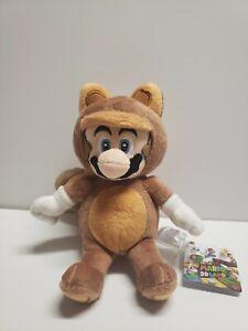 "Super Mario 3D Land Kitsune Tanooki Mario 9"" Plush Toy Offical Plushie Nintendo"