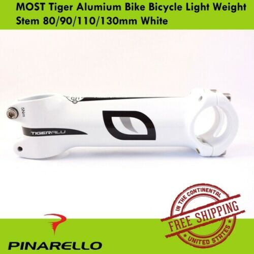 Pinarello Tiger Alumium MOST Bicycle Light Weight Bike Stem 80//90//110mm White