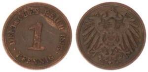 Empire 1 Pf. J.10 1893 E (1) Very Fine 34277