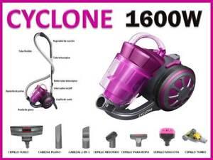 Cyclone Aspirador multiciclónico sin Bolsa AC16 Turbo 1600W  Cepillo rotativo