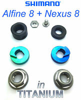 Shimano Alfine 8 Speed: 8 Parts Set In Titanium For Hub Without Chain Tender