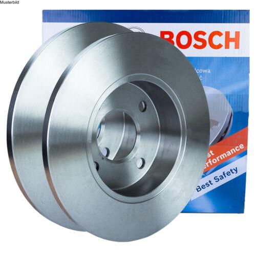 2x BOSCH BREMSSCHEIBEN Ø256 mm SET VORNE AUDI A2 1.4 1.4 TDI 1.6 FSI
