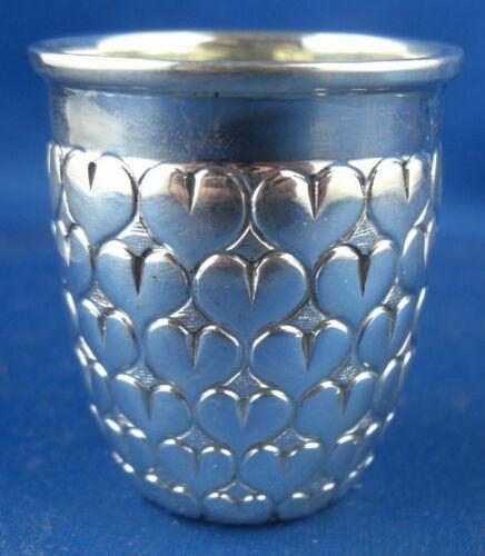 Becher Schnapsbecher Herzbecher Italien 800er Silber