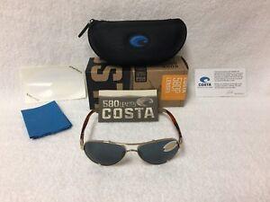 ccc14c33929e6 Sunglasses   Sunglasses Accessories Brand New Costa Del Mar Sunglasses  LORETO Rose Gold Tortoise Gray 580P Polarized