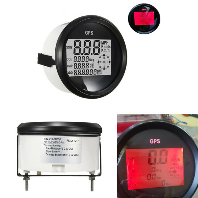 Universal Mph Sog Cog Odo Trip Meter For Car Gps Lcd