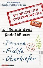 Nenne drei Nadelbäume: Tanne, Fichte, Oberkiefer von Lena Greiner UNGELESEN