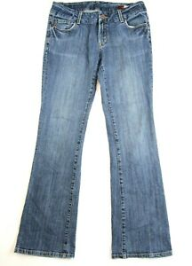 Seven7-Women-039-s-Jeans-Bootcut-Size-31-Medium-Wash-Stretch-Cotton-Mid-Rise