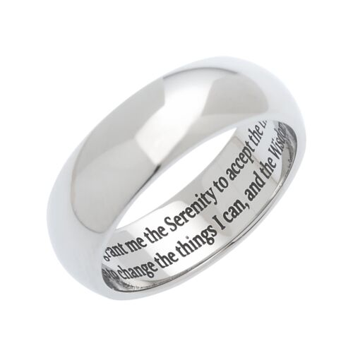Men/'s and Women/'s Serenity Prayer Ring Serenity Ring Serenity Ring