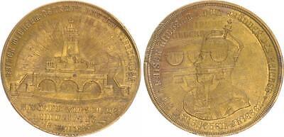Verprägung Der Medaille Einweihung Des Kyffhäuser Denkmals 1896, Vz Seien Sie Im Design Neu