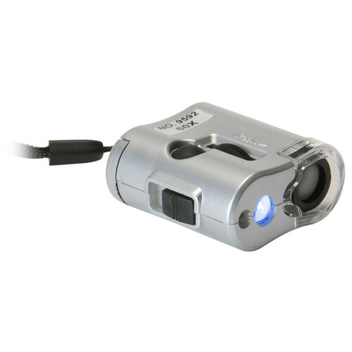 Sure DC-TE11129 Pocket Microscope 60x Magnification with UV LED Lamp