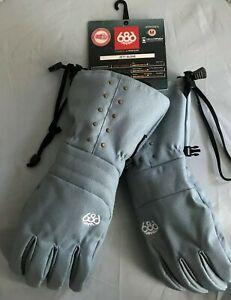 2020-NWT-686-Jett-Glove-Gloves-Snowboard-Womens-M-Medium-Blue-Denim-10K-yi27