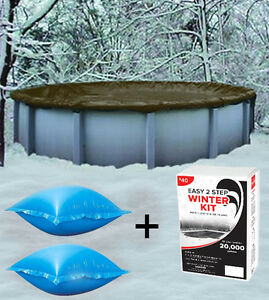 24 Round Above Ground Winter Pool Cover 4 X4 Air