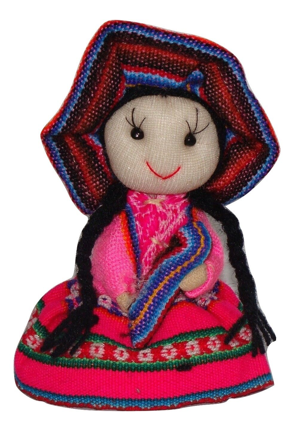 Girls Mini Purse 2 Peruvian Pens Llama Keychain Doll Traditional Artisan Made PK