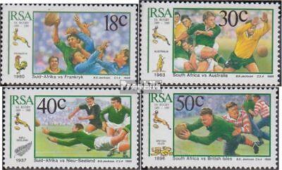 2019 Mode Zuid-afrika 775-778 (volledige Uitgave) Gestempeld 1989 Rugbyverein