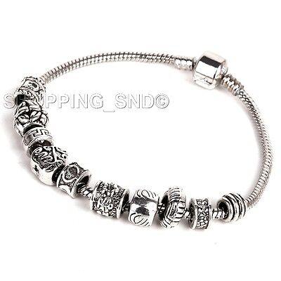 80pcs Tibetan Silver Tone Spacer Beads Fit European Charms Bracelet Daisy Murano