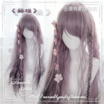 Sweet Lolita Harajuku Gradient Wig Gothic Small Fresh Curly Hime Hair#7-XD31