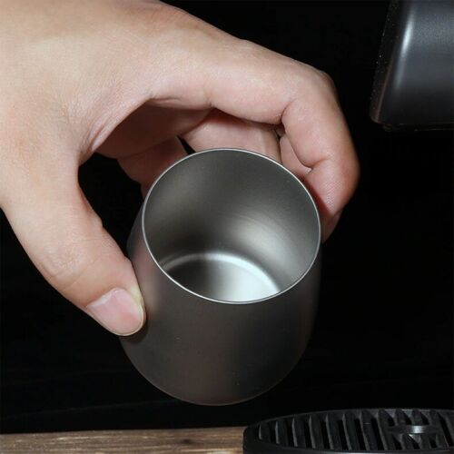 Titanium Double Wall Insulated Water Cup Camping Hiking Picnic Tea Cup Coffee Mu