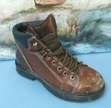 c468d04979e C.e. Schmidt Brown Leather Work BOOTS Fit for Her Womens 6 M Lace up ...