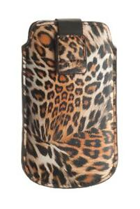 4-OK-UP-Leopard-Tasche-Hulle-Etui-Case-Schwarz-fur-Huawei-IDEOS-X5-U8800