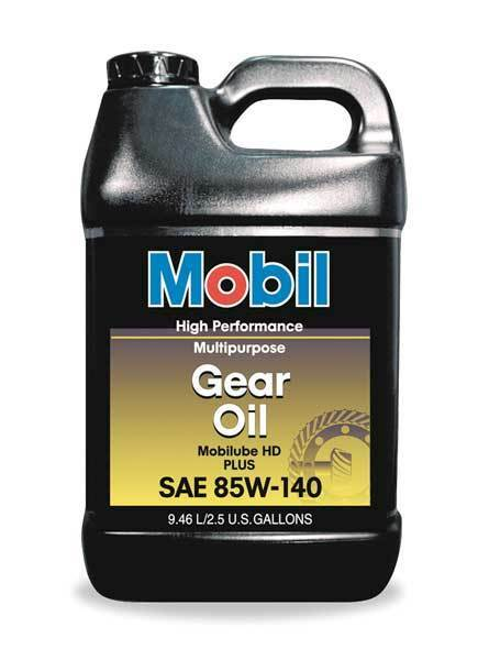 MOBIL 112425 Mobilube HD Plus 85w140, Gear Oil, 85W-140, 2.5 gal.