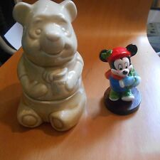 walt disney pooh bear cookie jar, plus Schmid Mickey mouse