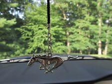 Chrome Mustang Running Horse Rear View Mirror Hang Dangler Tree Ornament SMU