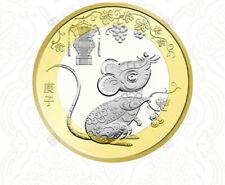 Commemorative Coin China Chinese 10 Yuan 2020 Year of Rat Zodiac New