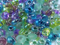 Miyuki Magatama Tear Drop Beads 4mm  Mix Lavender Garden  25 Grams