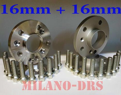 KIT 4 DISTANZIALI RUOTA 16+16mm MERCEDES CLK /'02///'10  Bullone SFERICO W209