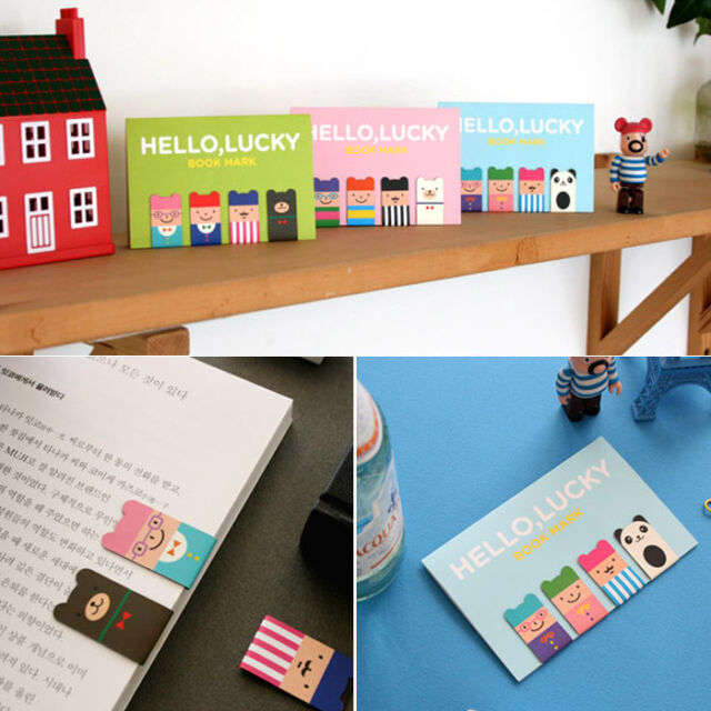 Cute Cartoon Creative 4Pcs(1Set) Korean Magnetic Metal Bookmark Book Clip Gift