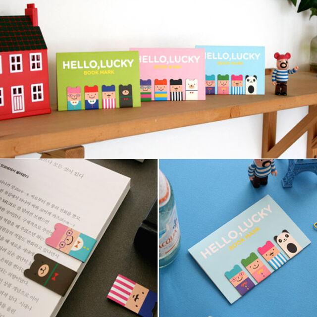Cute Cartoon Creative 4Pcs(1Set) Korean Magnetic Metal Bookmark Book Clip Gift