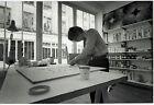 Photo Leon Herschtritt - Yvaral - Atelier - Art - tirage d'époque 1970 -