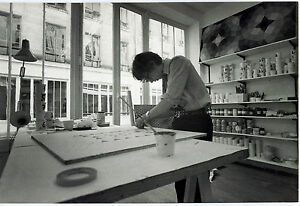 Photo-Leon-Herschtritt-Yvaral-Atelier-Art-tirage-d-039-epoque-1970