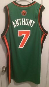 low priced 2e0f5 d4517 Details about Carmelo Anthony New York Knicks NBA Jersey Men XL Adidas St  Patrick's Day Pats 7