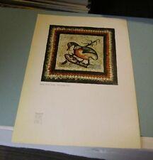 1961 Home Lines SS Homeric Cruise Ship Menu Roman Mosaic Paving Duck Cover Art