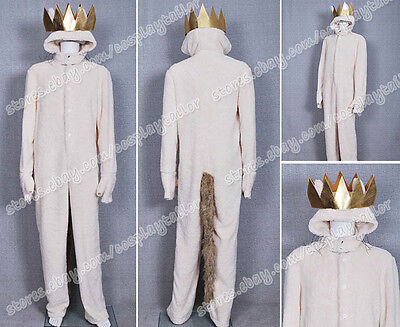 Where the Wild Things Are Cosplay Wolf Max Records Costume Jumpsuit Comfortable